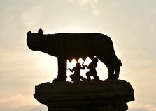 Dawn on Rome, the founding of the city Royalty Free Stock Photo