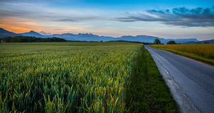 Dawn In Rural Switzerland Stock Photography