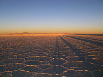 Dawn on the Salt Flats Royalty Free Stock Photography