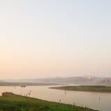 Dawn in Sangkhlaburi. Kanchanaburi , Thailand stock image
