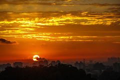 Dawn in Sao Paulo Stock Afbeeldingen