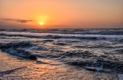 Dawn in the beach Royalty Free Stock Images