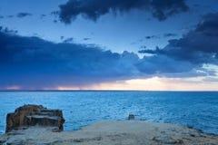 Dawn on the sea at Favignana island Royalty Free Stock Image