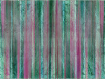 Dawn sea and sky watercolor wash stripes Stock Photography