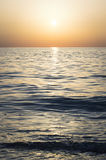 Dawn on the sea, sunny lane on the water Royalty Free Stock Photo