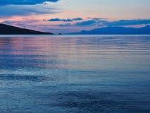Dawn Seascape colorée, le golfe de Corinthe, Grèce image libre de droits
