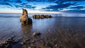 Dawn Seascape on Denia. Stock Images
