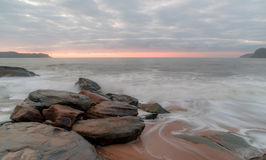 Dawn Seascape. Soft dawn colours at Pearl Beach, Central Coast, NSW, Australia Royalty Free Stock Photography