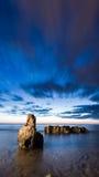 Dawn Seascape sur Denia images stock