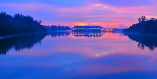 Dawn Serangoon Reservoir Singapore Stock Photo