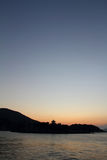 Dawn at Seto Inland sea in Tomonoura Royalty Free Stock Images