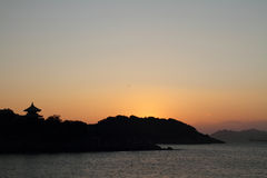 Dawn at Seto Inland sea in Tomonoura Royalty Free Stock Photo