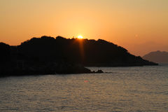 Dawn at Seto Inland sea in Tomonoura Stock Photography