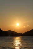 Dawn at Seto Inland sea in Tomonoura Stock Photo