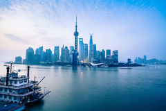The dawn of shanghai Stock Image