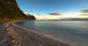 Dawn on shore, Magazine Bay, Maraetai, New Zealand Royalty Free Stock Images