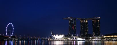 Dawn Shot @ Marina Bay 01 Arkivfoto
