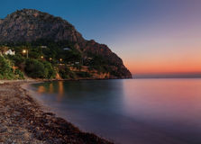 The dawn on the Sicily (Italy) Royalty Free Stock Photo
