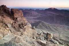 Dawn in Sinai Mountains Royalty Free Stock Photography