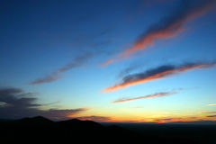 Dawn sky. Dawn light on summer solstice from Malvern Hills UK Royalty Free Stock Photo
