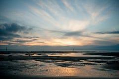 Dawn sky. At the beach Stock Photo