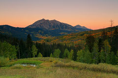 Dawn sky in the Rocky Mountains Royalty Free Stock Photos