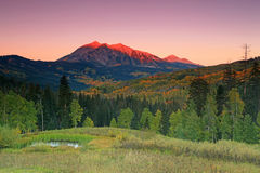 Dawn sky in the Rocky Mountains Royalty Free Stock Photo
