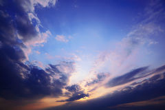 Dawn sky with storm clouds Stock Image