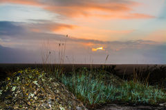 Dawn Sky. Taken from old WW2 anti aircraft gun base on Lincolnshire coast Stock Images