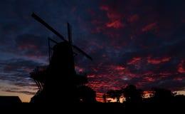 Dawn Sky Windmill Fotografia Stock