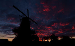 Dawn Sky Windmill Stock Photography