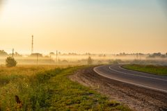 Dawn in summer stock photography