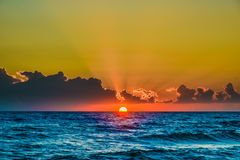 Dawn Sun Tranquil Calm Sea Stock Photography