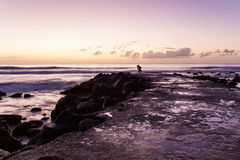 Dawn. Sunrise at Terceira Island, Azores Royalty Free Stock Photos