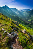 Dawn in the Tatra Mountains in summer Stock Photography