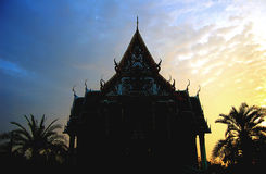 Dawn temple. Thai Buddhist temple at dawn royalty free stock photography