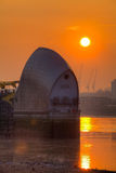 Dawn at the Thames Barrier Stock Photo