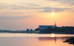 Dawn tijdens de zomer stock foto's