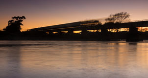 Dawn Train Bridge Stock Image