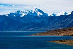 Dawn at Tso Moriri Lake. Himalaya mountains. India Stock Photography