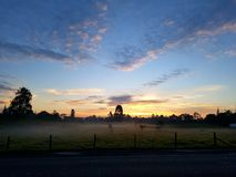 Dawn in the valley Stock Photo