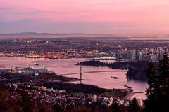 dawn Vancouver Zdjęcie Royalty Free