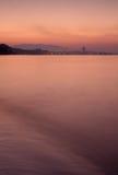 Dawn Velvet Aurora Sea Morning Sunrise Stock Images