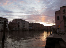Dawn in Venice. Watching sunrise in Venice was an unforgettable moment Royalty Free Stock Image