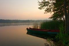 Dawn. View on a lake during dawn Stock Photo