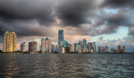 Dawn view of Miami Skyline Royalty Free Stock Images