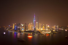 Dawn view of Shanghai city,china Stock Image