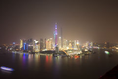 Dawn view of Shanghai city,china Stock Photos