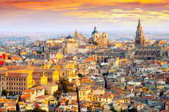 Dawn view of Toledo. Castile–La Mancha,  Spain Royalty Free Stock Images
