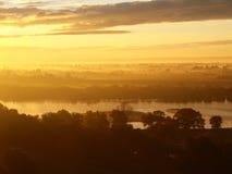 Dawn on the Vistula River. Stock Images